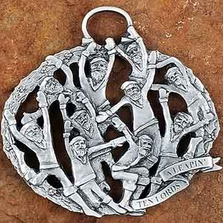 10 Lords a Leaping Pewter Christmas Ornament | Andy Schumann | SCH10LORDSLEAP