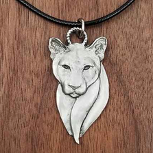 Cougar Pendant Necklace | Andy Schumann | SCHCOUGPEND