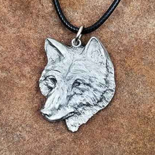 Red Wolf Pendant Necklace | Andy Schumann | SCHWOLFPEND