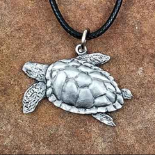 Sea Turtle Pendant Necklace | Andy Schumann | SCHSEATURTPEND