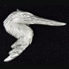 Blue Heron Pewter Pin | Andy Schumann | SCHHERONPIN