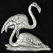 Flamingo Pewter Pin | Andy Schumann | SCHFLAMPIN