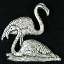 Flamingo Pewter Pin   Andy Schumann   SCHFLAMPIN