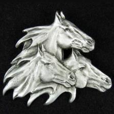 Horses Pewter Pin | Andy Schumann | SCHHORSEPIN