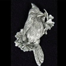 Cardinal Pewter Pin | Andy Schumann | SCHCARDPIN