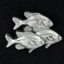Fish Pewter Pin | Andy Schumann | SCHFISHPIN