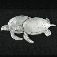 Sea Turtle Pewter Pin | Andy Schumann | SCHTURTPIN