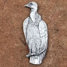 White-Backed Vulture Pewter Pin | Andy Schumann | SCHVULTPIN