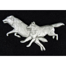 Wolf Pewter Pin | Andy Schumann | SCHWOLFPIN