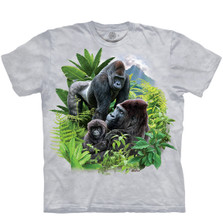 Gorilla Family Unisex Cotton T-Shirt | The Mountain | 106447 | Gorilla T-Shirt