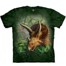Wild Triceratops Unisex Cotton T-Shirt   The Mountain   106380   Gorilla T-Shirt