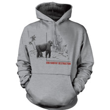 Gorilla Habitat Unisex Hoodie | The Mountain | 725578 | Gorilla Sweatshirt