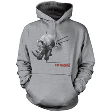 Rhino End Poaching Unisex Hoodie | The Mountain | 725575 | Rhino Sweatshirt