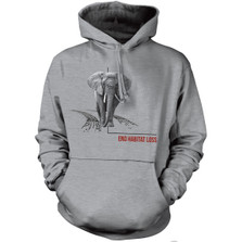 Elephant Habitat Unisex Hoodie | The Mountain | 725571 | Elephant Sweatshirt