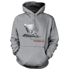 Polar Bear Habitat Unisex Hoodie | The Mountain | 725573 | Polar Bear Sweatshirt