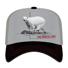 Polar Bear Habitat Trucker Hat | The Mountain | 765573 | Polar Bear Hat