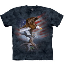 Eagle Standing Ground Unisex Cotton T-Shirt | The Mountain | 106441 | Eagle T-Shirt