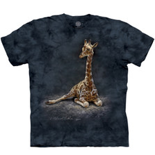 Giraffe Calf Unisex Cotton T-Shirt | The Mountain | 106443 | Giraffe T-Shirt