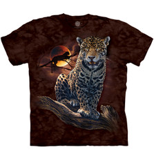 Blood Moon Leopard Unisex Cotton T-Shirt | The Mountain | 106434 | Leopard T-Shirt