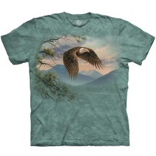 Majestic Moment Eagle Unisex Cotton T-Shirt | The Mountain | 106428 | Eagle T-Shirt