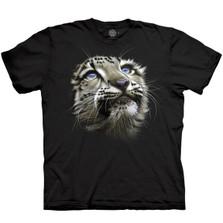 Snow Leopard Cub Unisex Cotton T-Shirt   The Mountain   106432   Snow Leopard T-Shirt