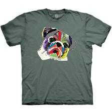 Rainbow Pug Unisex Cotton T-Shirt | The Mountain | 106485 | Pug T-Shirt
