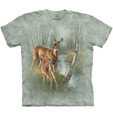 Birch Creek Whitetail Deer Unisex Cotton T-Shirt | The Mountain | 106424 | Deer T-Shirt