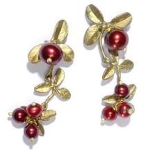 Cranberry Dangle Earrings | Michael Michaud Jewelry | SS4661bzcr -2
