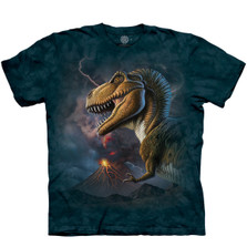 Volcano T-Rex Unisex Cotton T-Shirt | The Mountain | 106484 | T-Rex T-Shirt
