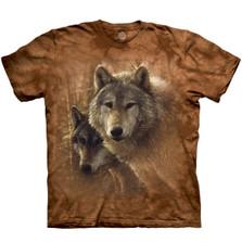Wolf Woodland Companions Unisex Cotton T-Shirt   The Mountain   106420   Wolf T-Shirt