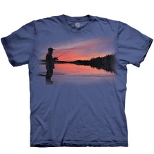 Fly Solo Fishing Unisex Cotton T-Shirt | The Mountain | 106477 | Fly Fishing T-Shirt