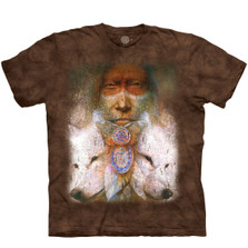 Native Wolves Sacred Transformation Unisex Cotton T-Shirt | The Mountain | 106410 | Wolf T-Shirt