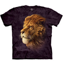 Lion King of the Savannah Unisex Cotton T-Shirt | The Mountain | 106405 | Lion T-Shirt
