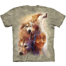 Medicine Woman Wolves Unisex Cotton T-Shirt | The Mountain | 106408 | Wolf T-Shirt