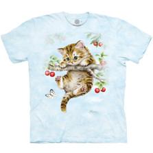 Cherry Kitten Unisex Cotton T-Shirt | The Mountain | 106466 | Cat T-Shirt