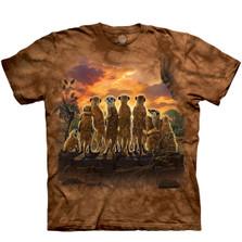 Meerkat Family Unisex Cotton T-Shirt   The Mountain   106462   Meerkat T-Shirt