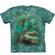 Alligator Swim Unisex Cotton T-Shirt | The Mountain | 106456 | Alligator T-Shirt