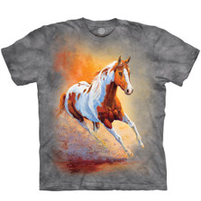 Sunset Gallop Horse Unisex Cotton T-Shirt   The Mountain   106457   Horse T-Shirt