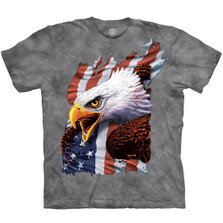 Patriotic Scream Eagle Unisex Cotton T-Shirt | The Mountain | 106436 | Eagle T-Shirt