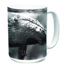 Save the Whales 15oz Ceramic Mug | The Mountain | 575981 | Whale Mug