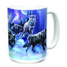 Wolf Pack 15oz Ceramic Mug | The Mountain | 575915 | Wolf Mug