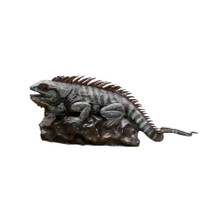 Iguana on Rock Bronze Fountain Statue | Metropolitan Galleries | SRB705542