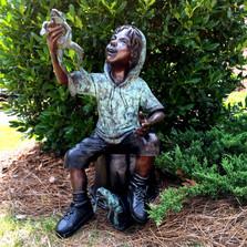 Boy with Frogs Bronze Statue | Metropolitan Galleries | SRB706761