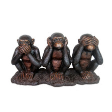 Three Wise Monkeys Bronze Statue | Metropolitan Galleries | SRB706872