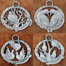 12 Days of Christmas Pewter Ornament Set | Andy Schumann | SCHU12DAYS
