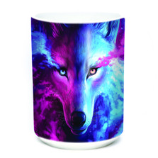 Light and Dark Wolf 15oz Ceramic Mug | The Mountain | 574963 | Wolf Mug