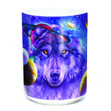 Wolf of the Cosmos 15oz Ceramic Mug | The Mountain | 574308 | Wolf Mug