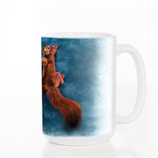 Peace Squirrel 15oz Ceramic Mug | The Mountain | 574007 | Squirrel Mug