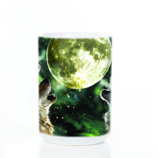 Three Wolf Moon 15oz Ceramic Mug | The Mountain | 572053 | Wolf Mug