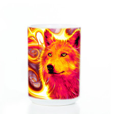 Phoenix Wolf 15oz Ceramic Mug | The Mountain | 573075 | Wolf Mug